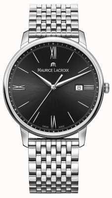 Maurice Lacroix Men's Eliros | Stainless Steel Bracelet | Black Dial EL1118-SS002-310-2