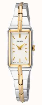 Seiko Women's Two-Tone Steel Bracelet | White Dial SWR044J8