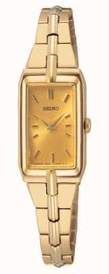 Seiko Women's Gold Tone Steel Bracelet | Gold Dial SWR048J8