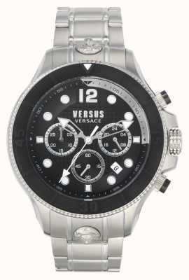 Versus Versace Men's Volta Versus | Stainless Steel Bracelet | Black Dial VSPVV0420