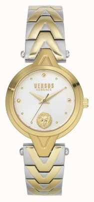 Versus Versace Women's V_Versus Forlanini | Two-Tone Steel Bracelet | Silver Dial VSPVN1020