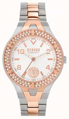 Versus Versace Women's Vittoria | Two-Tone Steel Bracelet | White Dial VSPVO0620