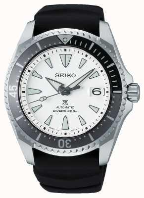 "Seiko PROSPEX ""Shogun"" | Black Silicone Strap | White Dial SPB191J1"