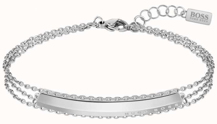 BOSS Jewellery Womens Insignia   Stainless Steel   Bracelet 1580022