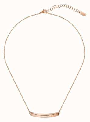 BOSS Jewellery Womens   Insignia   Rose Gold PVD Steel   Necklace 1580019