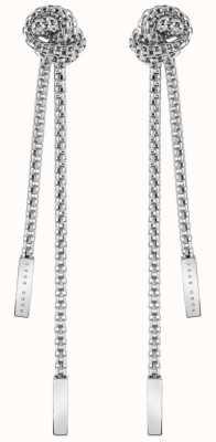 BOSS Jewellery Rosette Drop Silver Tone Earrings 1580081