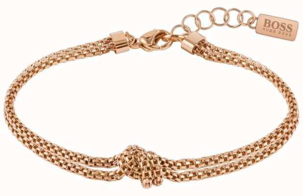 BOSS Jewellery Rosette Rose Gold Tone Bracelet 1580082