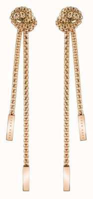 BOSS Jewellery Rosette Rose Gold PVD Steel Earrings 1580084