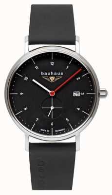 Bauhaus Men's Black Italian Leather Strap   Black Dial 2130-2