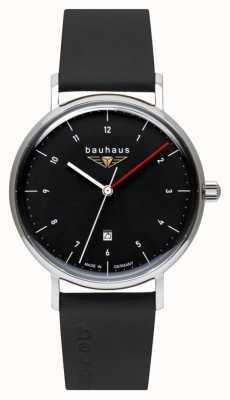 Bauhaus Men's Black Italian Leather Strap   Black Dial 2140-2