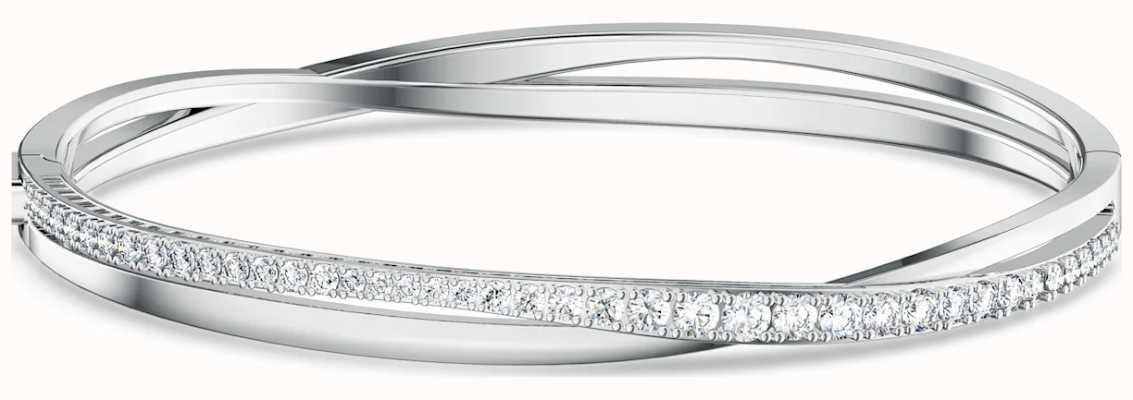 Swarovski Twist Rows | Rhodium Plated | Bracelet | White 5565210