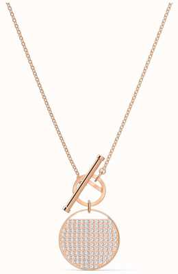 Swarovski Ginger | Rose Gold Plated | T-Bar Necklace | White 5567529