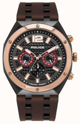 Police | Men's | Kediri Watch | Brown Rubber Strap | 15995JSBR/61P