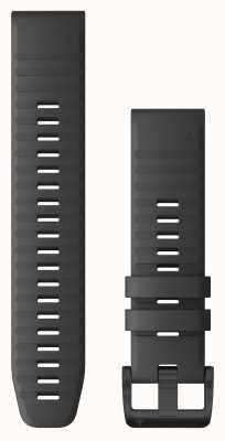 Garmin QuickFit 22 Slate Grey Silicone, Black Hardware 010-12863-22