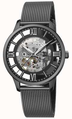 Festina Men's Automatic Skeleton   Black Mesh Bracelet   Black Dial F20535/1