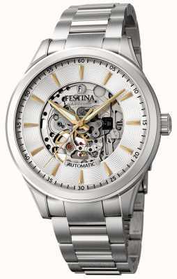 Festina Men's Automatic Skeleton   Stainless Steel Bracelet   F20536/2