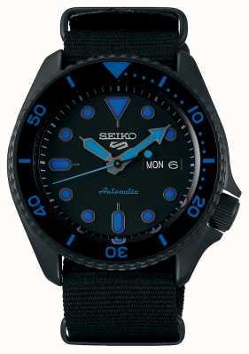 Seiko 5 Sports | Men's | Black Nylon Strap | Black/Blue Dial SRPD81K1