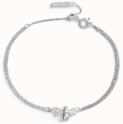Olivia Burton Sparkle Bee | Silver Bee Chain Bracelet OBJAMB120