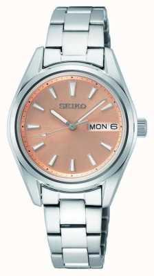 Seiko Women's Quartz Stainless Steel Bracelet Rose Gold Dial SUR351P1