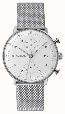 Junghans max bill Chronoscope | Steel Mesh Strap | 027/4003.48