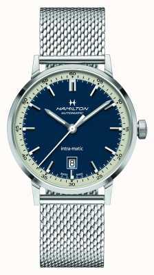 Hamilton American Classic | Intra-matic | Steel Mesh Bracelet | Blue Dial H38425140