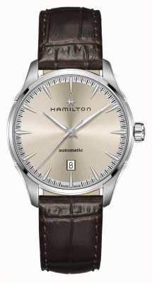Hamilton Jazzmaster | Auto | Brown Leather Strap | Champagne Dial H32475520
