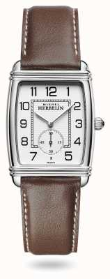 Michel Herbelin Womens | Art Déco | Silver Dial | Brown Leather Strap 10638/22MA