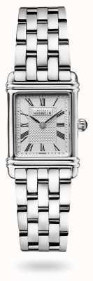 Michel Herbelin Art Déco   Stainless Steel Bracelet   Silver Dial 17478/08B2