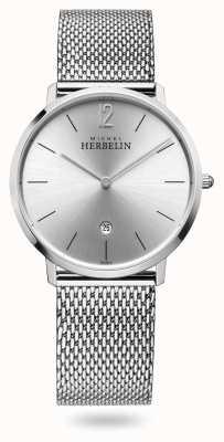Michel Herbelin City | Stainless Steel Mesh Bracelet | Silver Dial 19515/11B