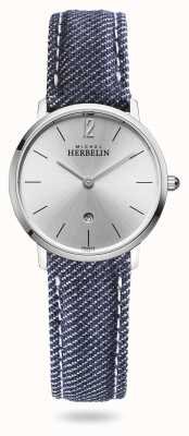 Michel Herbelin City | Blue Denim Strap | Silver Dial 16915/11JN