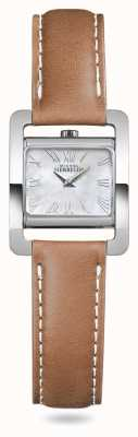 Michel Herbelin V Avenue | Brown Leather Strap Mother Of Pearl 17037/09GO