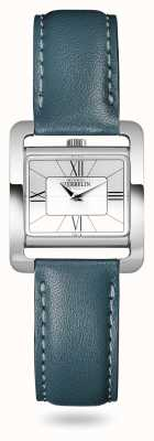 Michel Herbelin V Avenue | Duck Green Leather Strap | Silver Dial 17137/08BV