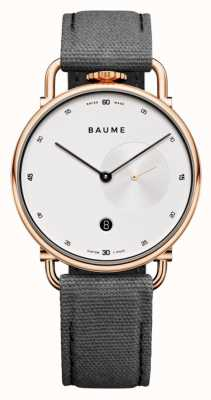 Baume & Mercier BAUME | Eco-Friendly Quartz | White Dial | Grey Cork Backed Strap M0A10600