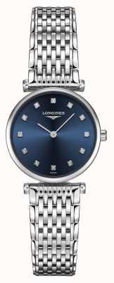 Longines Womens | La Grande Classique | Diamond Blue Dial | Stainless Steel L42094976
