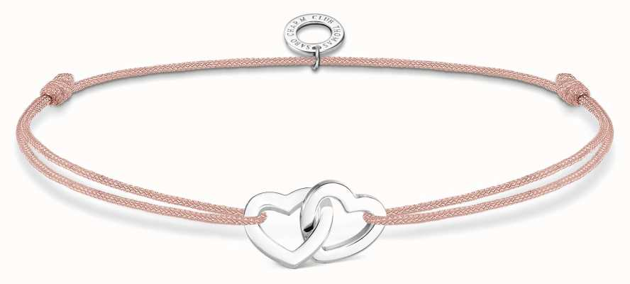 Thomas Sabo Little Secrets | Pink Nylon Double Hearts Bracelet LS121-173-19-L20V