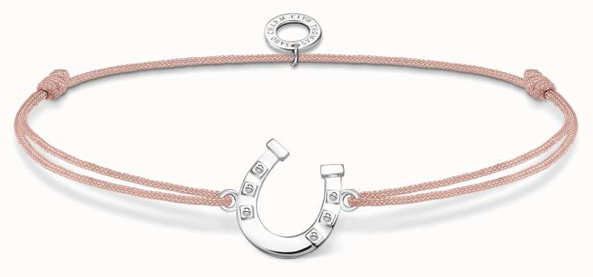 Thomas Sabo Little Secrets | Pink Nylon Horseshoe Bracelet LS124-173-19-L20V