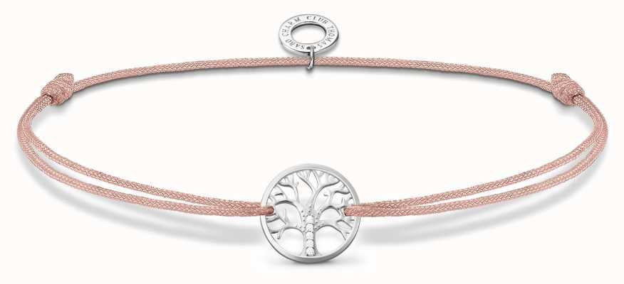 Thomas Sabo Little Secrets | Pink Nylon Tree Of Love Bracelet LS125-401-19-L20V
