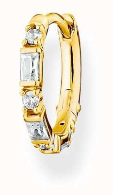 Thomas Sabo Gold Plated Single Hoop Earring | White Stones CR666-414-14