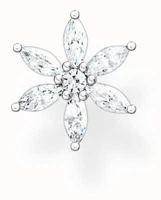 Thomas Sabo Sterling Silver Single Flower Stud Earring H2196-051-14