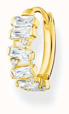 Thomas Sabo Gold Plated Single Hoop Earring | White Stones CR665-414-14
