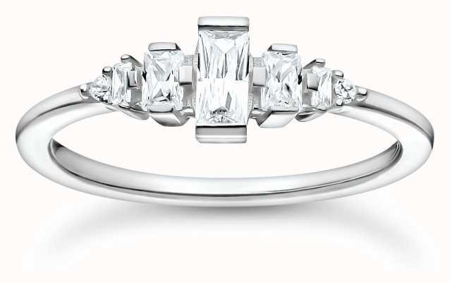 Thomas Sabo Sterling Silver Vintage Stones Ring | Size 54 (UK N) TR2347-051-14-54