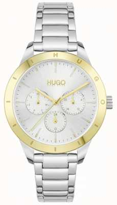 HUGO #FRIEND | Stainless Steel Bracelet | Silver Dial 1540090