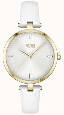 BOSS Majesty | Women's White Leather Strap | White Dial 1502588