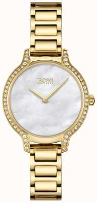 BOSS Gala | Women's Gold Plated Steel Bracelet | White Mother Of Pearl 1502557