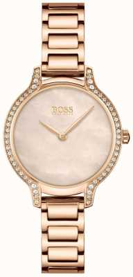BOSS Gala | Women's Rose Gold Steel Bracelet | Rose Gold Dial 1502556