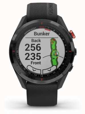 Garmin Approach S62 | Golf GPS | Cermamic Bezel | Black Silicone 010-02200-00