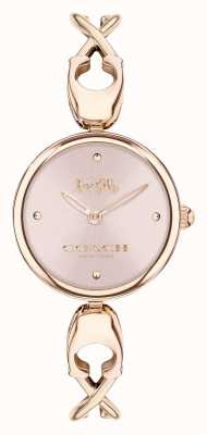 Coach Caroll | Women's Rose Gold Bangle Bracelet | Pink Dial 14503751