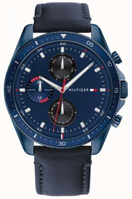 Tommy Hilfiger Parker | Men's Blue Leather Strap | Blue Dial 1791839