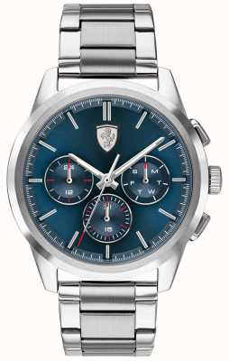 Scuderia Ferrari Grand Tour | Blue Dial | Stainless Steel Bracelet 0830804