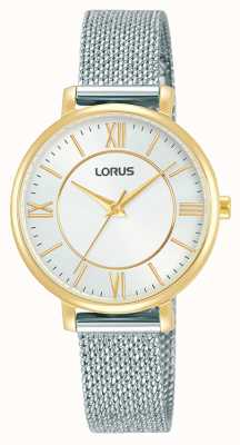 Lorus Womens | White Dial | Stainless Steel Mesh Bracelet RG220TX9